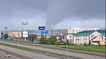 Webcam footage shows dramatic tornado formation