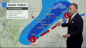 Blizzard to dump nearly 2 feet of snow over central US