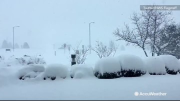 Timelapse shows how fast Arizona gets buried in snow