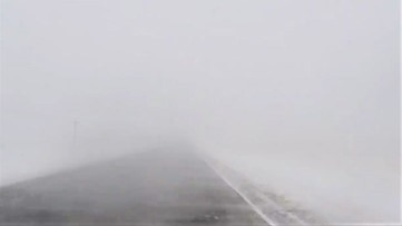 Snow squall triggers whiteout conditions on Highway 24