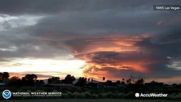 Beautiful timelapse of lenticular clouds at sunset