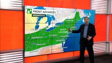 Storms rumble through the East, then a big change is coming