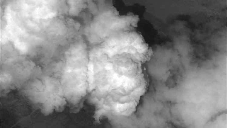 Video from space shows massive smoke plume rising from St. Vincent volcano