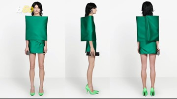 Balenciaga Is Mocked Over Pricey Dress That Looks Like a Couch Cushion
