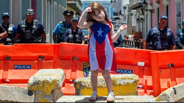 Besieged Puerto Rico governor goes quiet amid protests