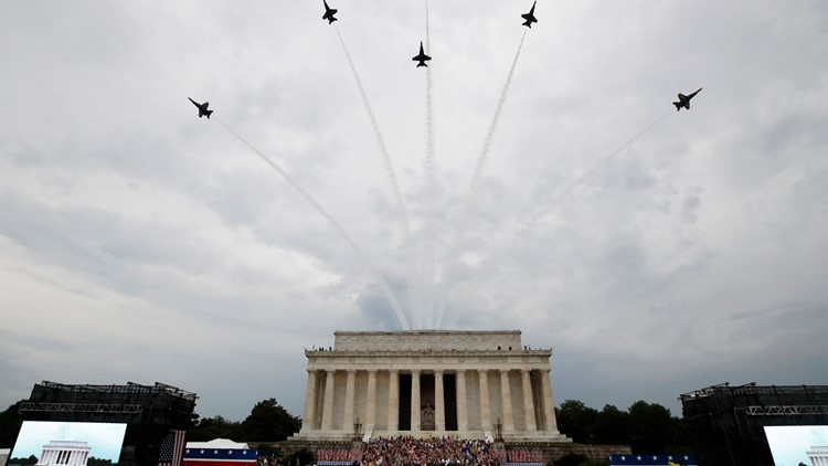 Trump Fourth of July blue angels flyover