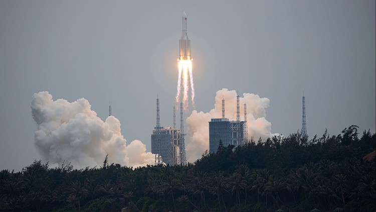 When and where Chinese rocket debris could fall this weekend