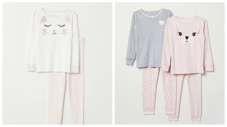 H&M recalled pajama tops