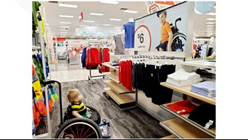 PHOTO: Boy in wheelchair lights up at inclusive store ad