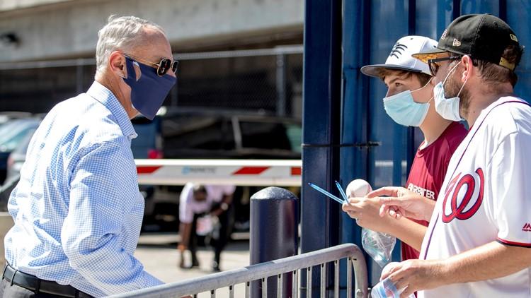 MLB commissioner confident season can get through playoffs despite coronavirus