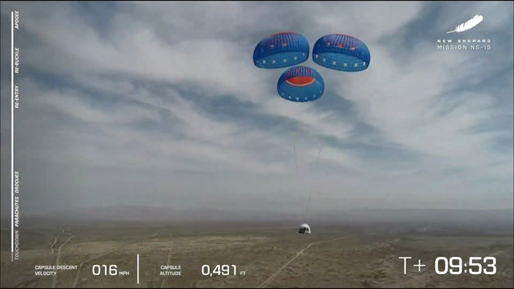 Jeff Bezos' Blue Origin launches capsule to edge of space as it prepares to launch humans