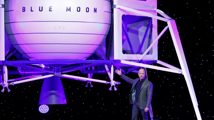 Bezos Blue Origin spaceship unveil