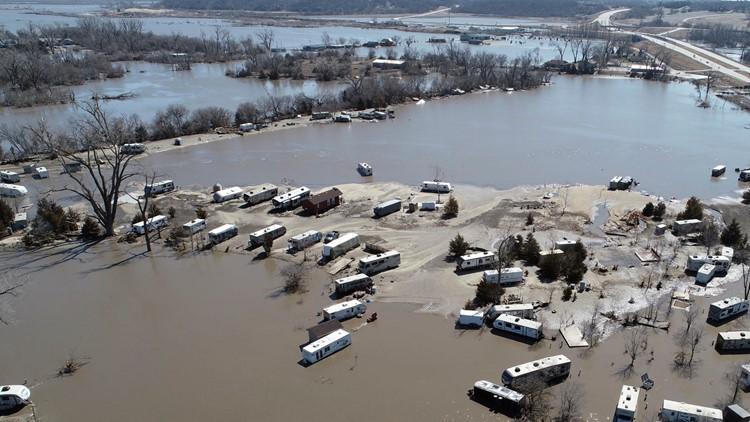 Winter Weather Flooding Nebraska March 20 AP