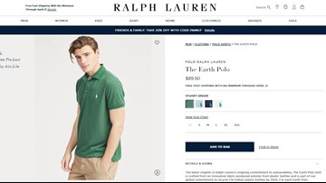 Polo made of recycled plastic bottles debuted by Ralph Lauren