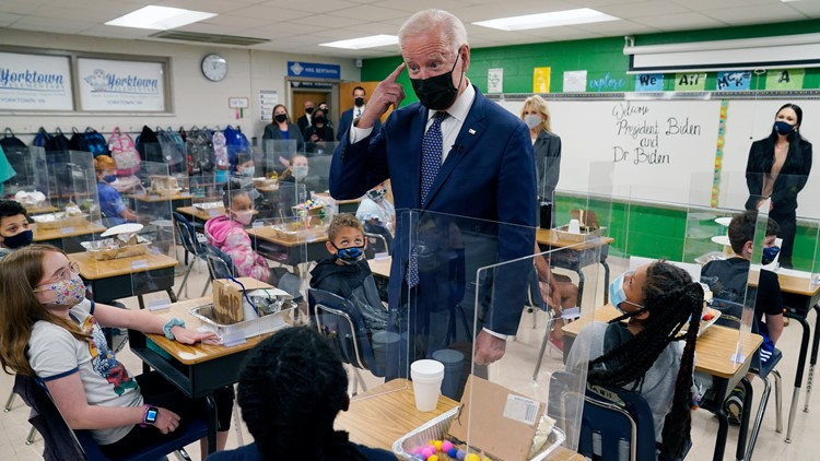 Biden hits schools goal even as many students learn remotely