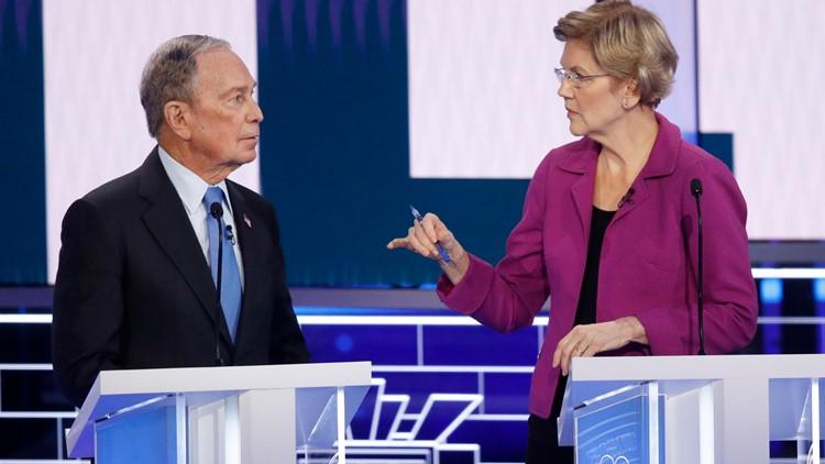 Mike Bloomberg and Elizabeth Warren Election 2020 Debate AP