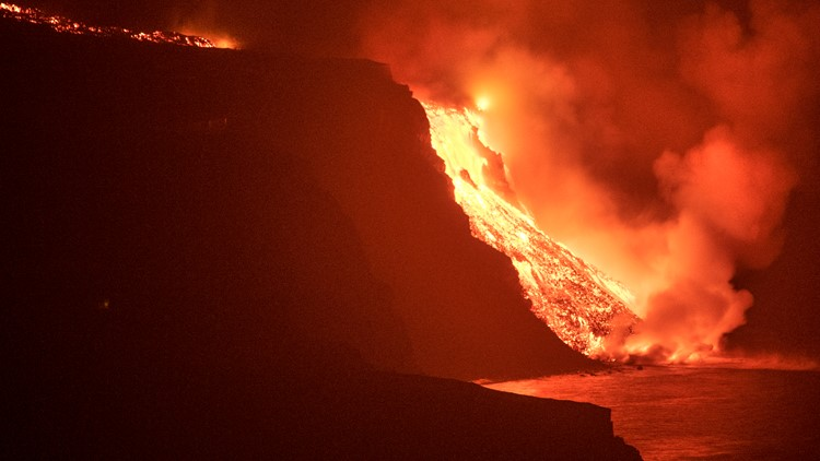 Lava from La Palma eruption finally reaches the Atlantic