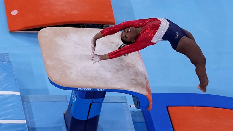 No, Simone Biles did not attempt her new vault before leaving the Olympics team final