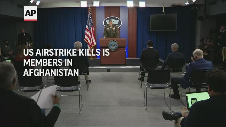 US airstrike kills IS members in Afghanistan