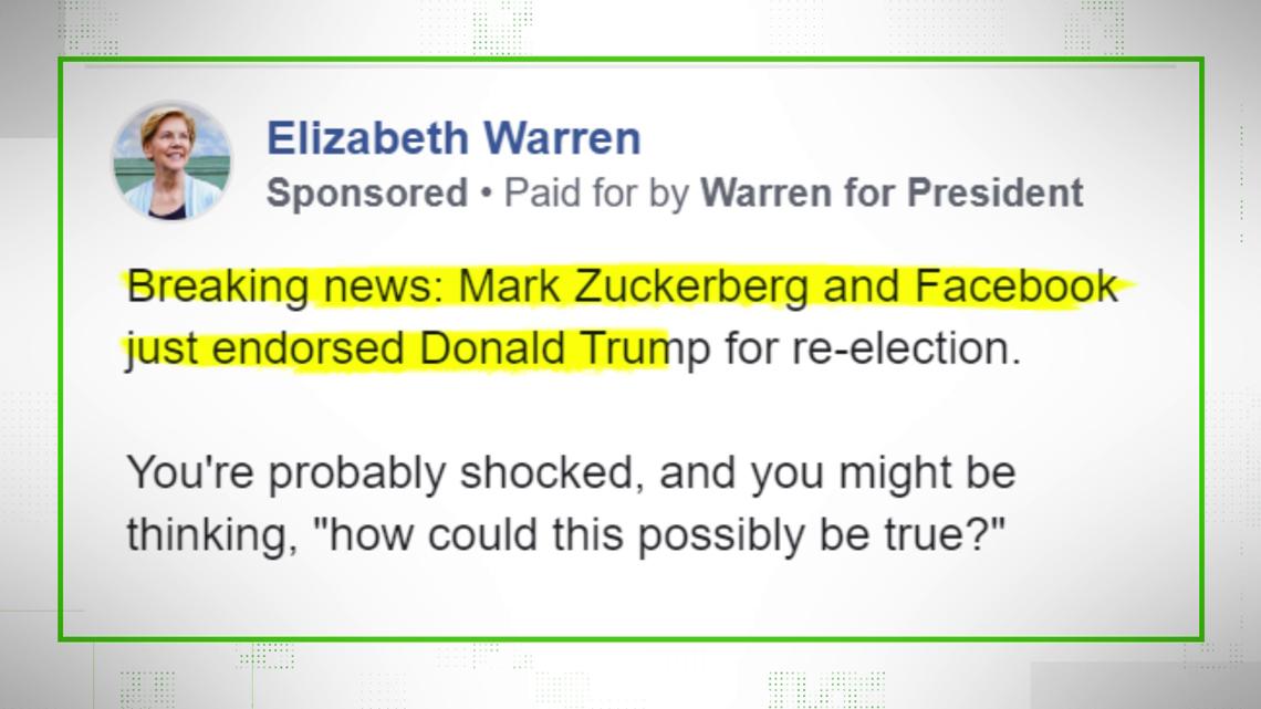 VERIFY: No, Facebook didn't endorse President Trump