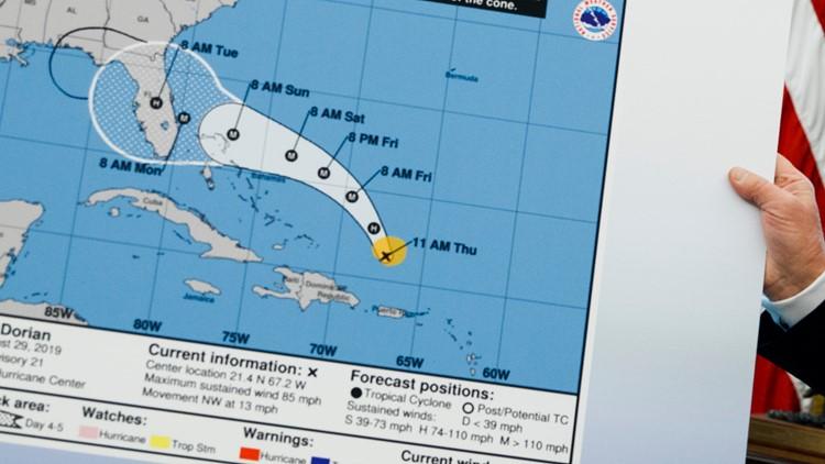 Trump altered chart Hurricane dorian