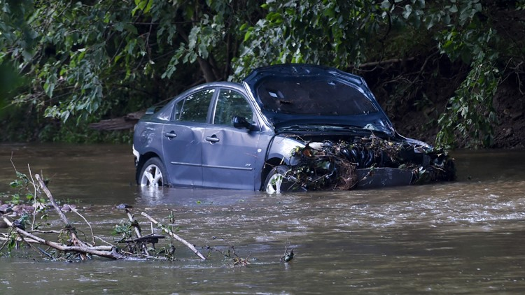 Pennsylvania Severe Weather flooding mother and son