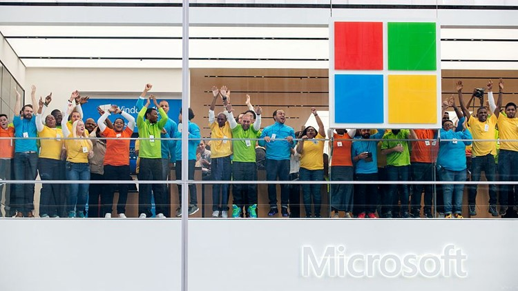 Microsoft Opens Flagship Store On New York's Fifth Avenue
