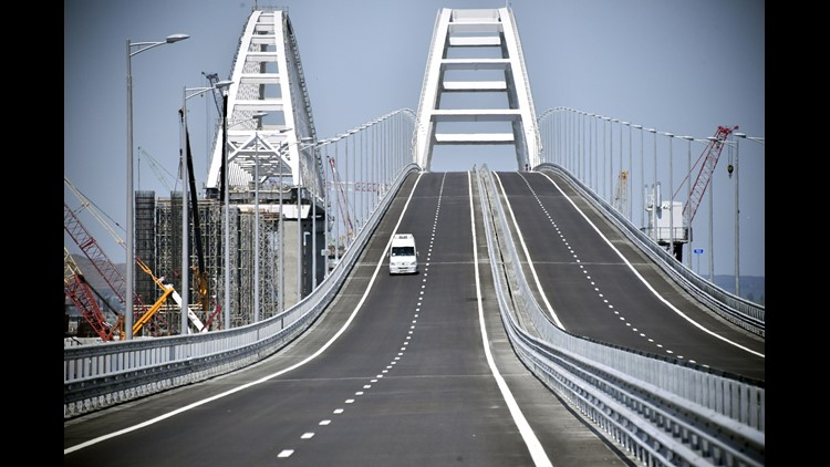 Russia Crows Over Crimean Bridge Opening