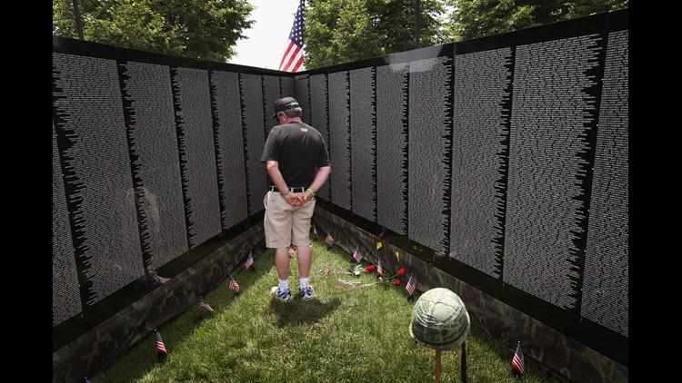Replica of Vietnam Veterans Memorial on display through Monday in Medical Lake