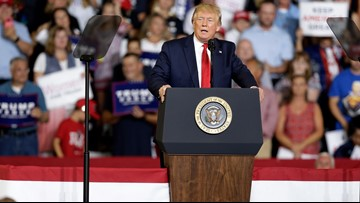 Crowd chants 'Send her back' when Trump mentions Rep. Omar at rally