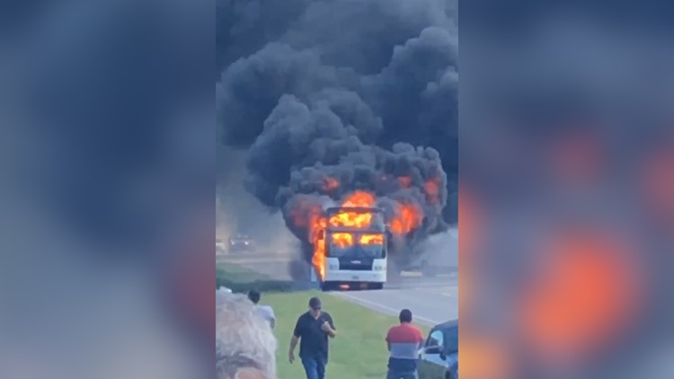 Cell phone video shows summer camp bus explosion