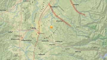 'A real quick jolt': 3.1 earthquake strikes near Salem