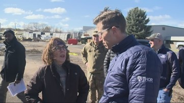 'The damage is extensive': Gov. Brown tours flooded areas of Eastern Oregon