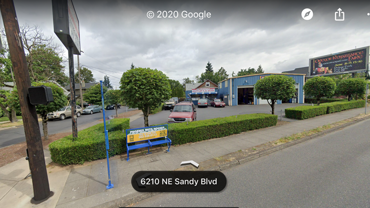View of trees from Google maps