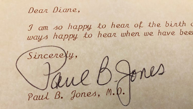 Letter from Paul B. Jones
