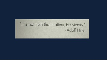 Senior quote from Hitler printed in SW Washington HS yearbook