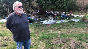 'It's so disheartening': City orders Gresham homeowner to clean up homeless camp