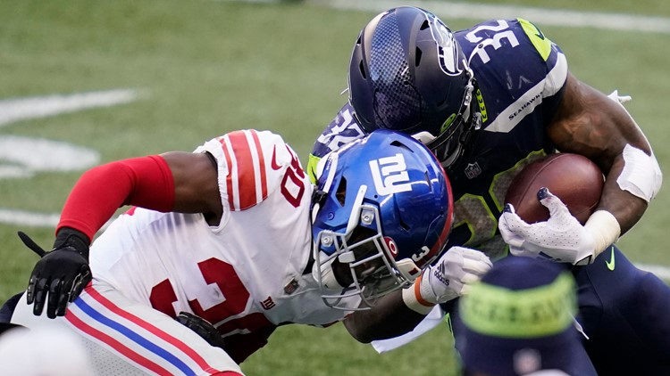 NY Giants stymie Wilson, Seahawks in 17-12 win