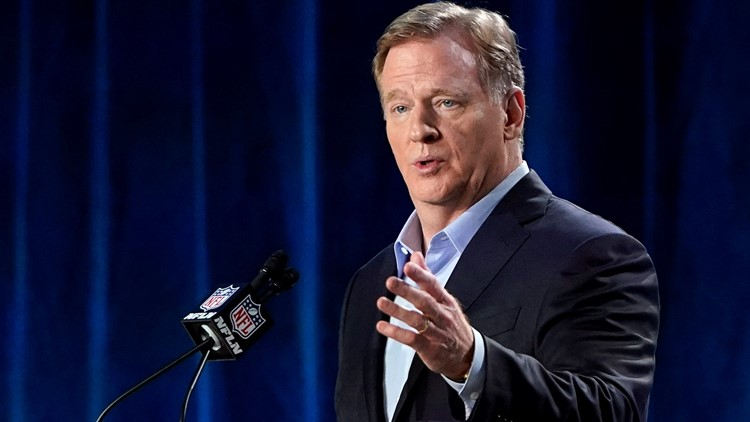 Roger Goodell portrait at Rams draft house launches talk of infamous Rams-Saints non-call