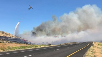 Crews making progress on 70,000-acre fire in central Washington