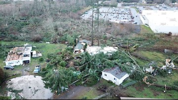 How did a tornado form in Port Orchard?