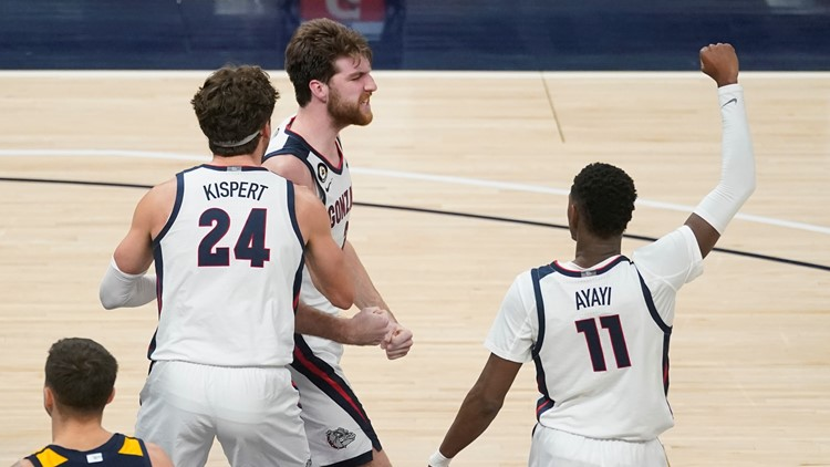 No. 1 Gonzaga rallies to beat No. 11 West Virginia 87-82