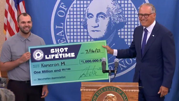 South King County man wins $1 million COVID-19 vaccine lottery prize