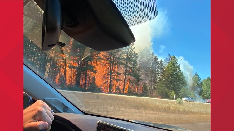 VIDEO: I-90 eastbound reopens near Easton, Level 3 evacuations lifted after wildfire