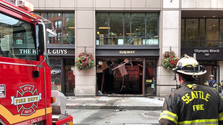 'It was chaos': Careening dump truck injured 5 in Seattle's Pioneer Square