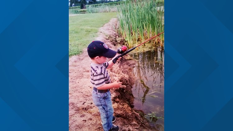 Cole Abshere fishing