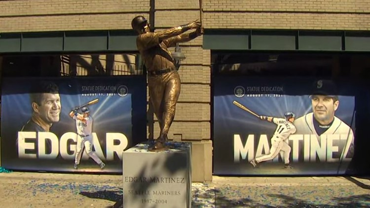 Statue unveiled for Edgar Martinez, Seattle Mariners hitting legend, outside T-Mobile Park