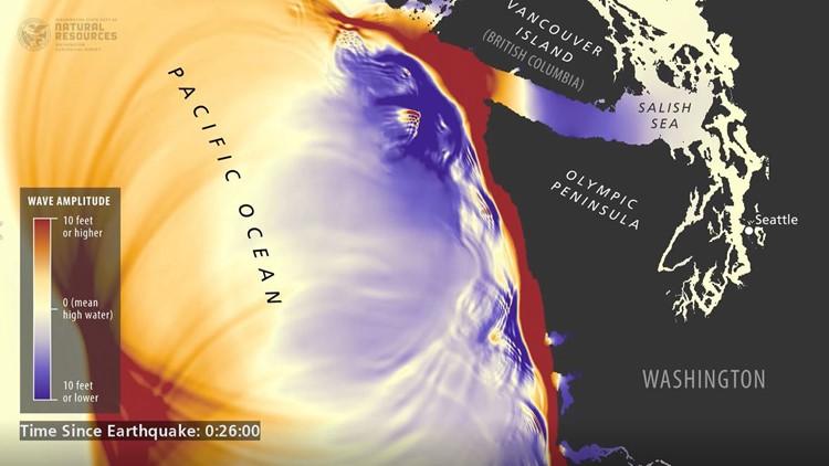 Washington tsunami simulation