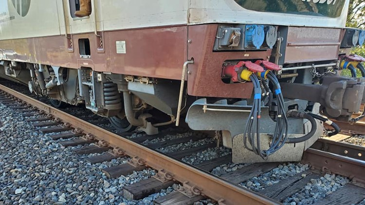 Wheel of slow-moving Amtrak train derails in Washington; no injuries reported