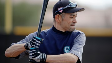 Ichiro back in M's camp at 45 with chance to play at home